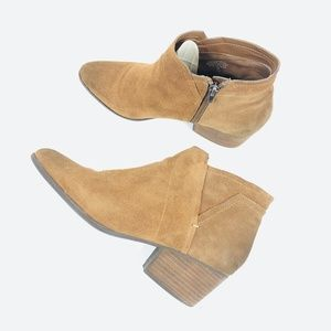 Crown Vintage CVLAURIA Leather Suede Ankle Bootie